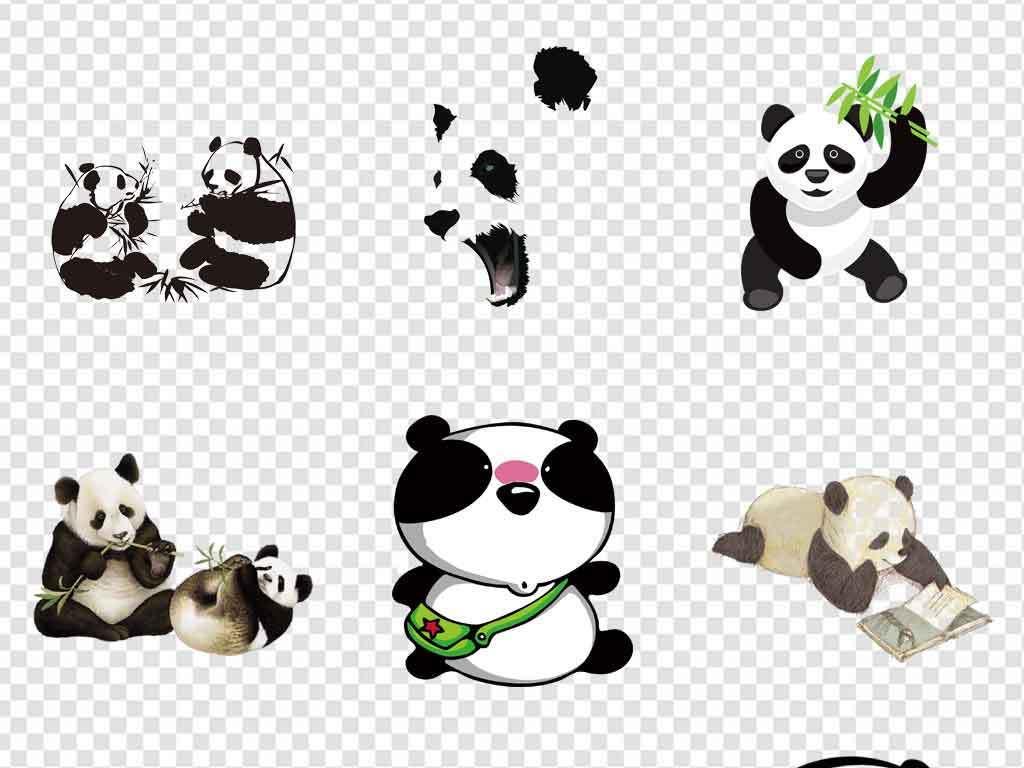 熊猫素材熊猫元素手绘熊猫可爱熊猫q版