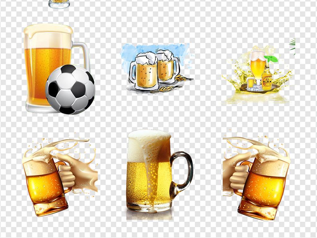 饮品夏天啤酒节狂欢饮料手绘卡通手绘