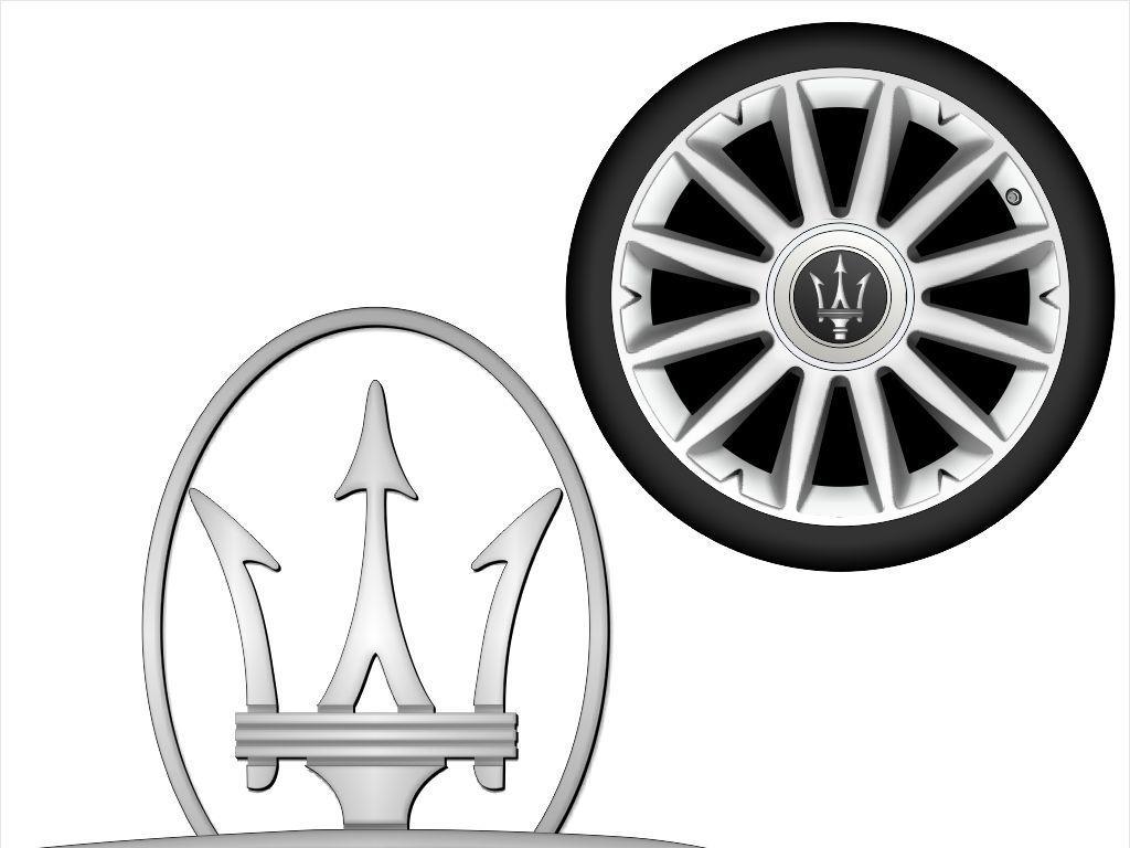 玛莎拉蒂logo标志超级跑车英文矢量大图
