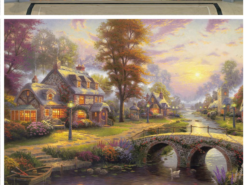 欧美风景油画装饰画
