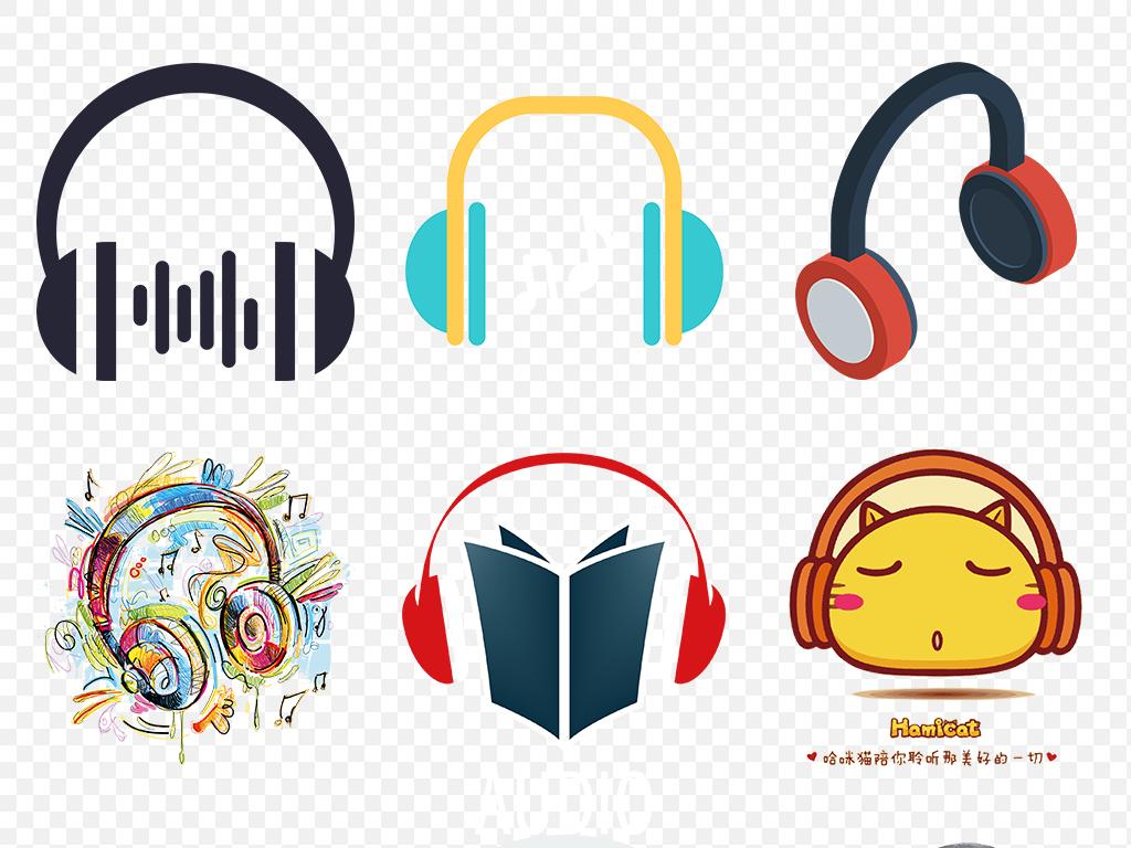 免抠元素 生活工作 办公商务 > 卡通手绘蓝牙头戴式耳机海报素材背景