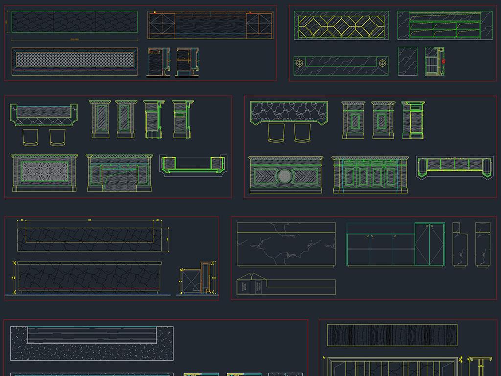 服务台柜台接待台迎宾台总台CAD素材图库怎么笔记本下载2007版cad图片