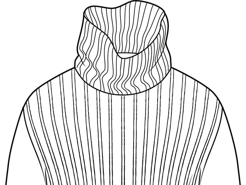 毛衣款式图针织衫款式