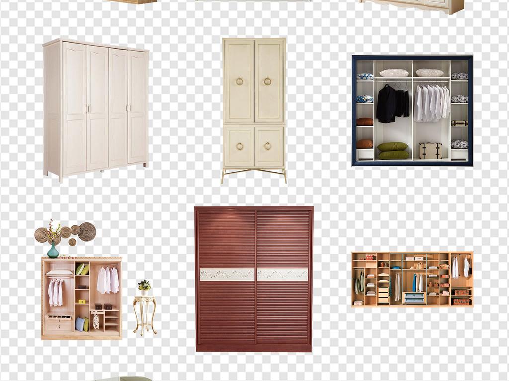 室内装饰衣柜壁橱家具效果海报png素材
