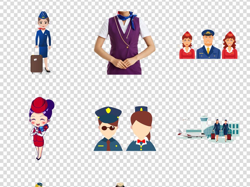 卡通人物礼貌可爱航空形象空姐卡通形象卡通旅游形象卡通旅游卡通png