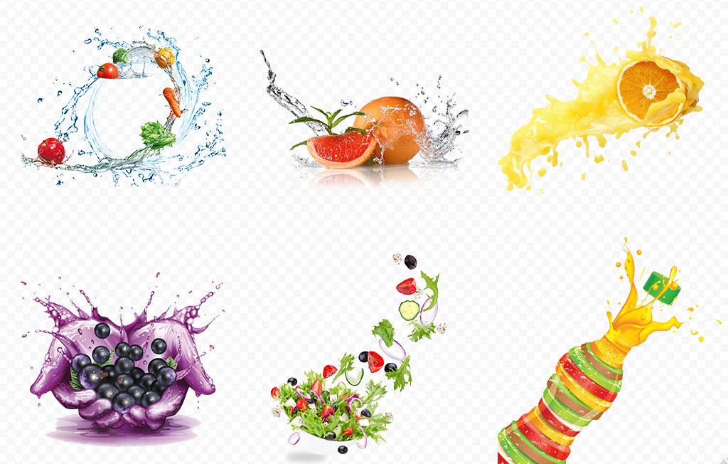 新鲜蔬菜水果组合海报素材背景图片png图片