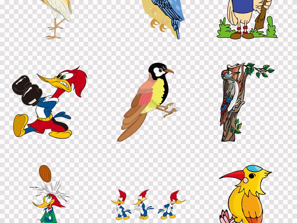 爱情鸟素材海报背景手绘插画