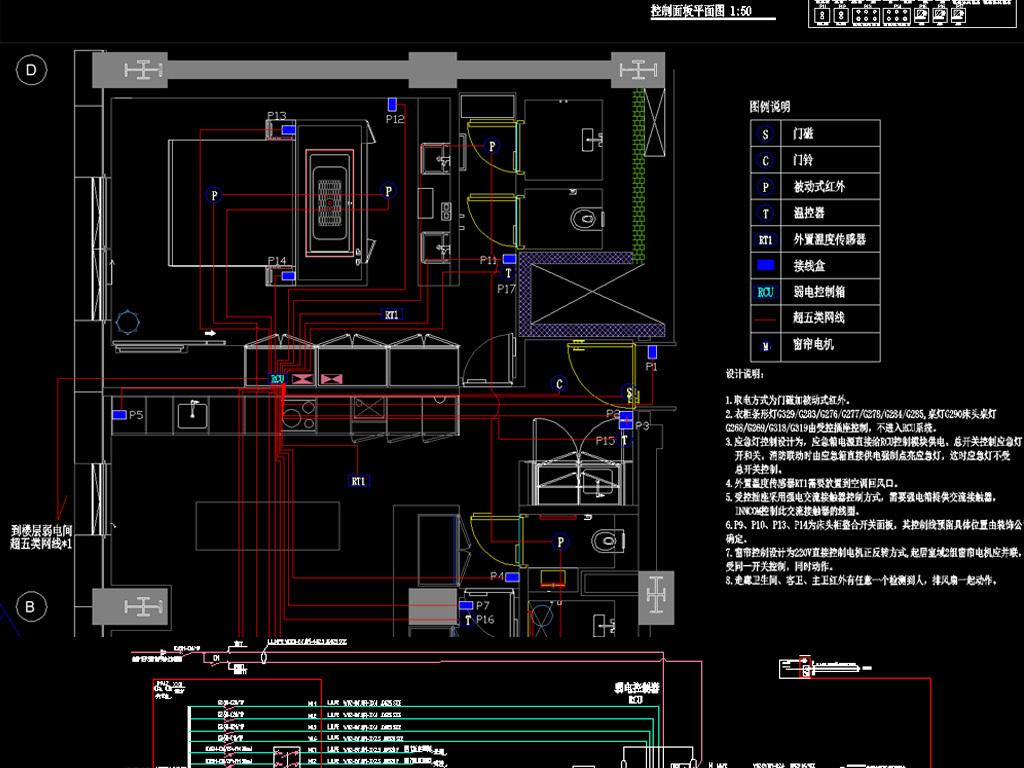 幻想精装电气v幻想图纸(图纸控制系统)装备级酒店神域客房50图片