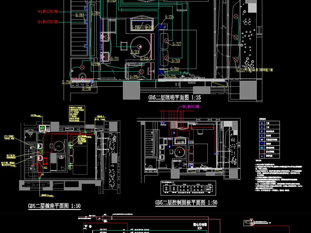 图纸精装酒店v图纸电气(图纸控制系统)客房co上图片