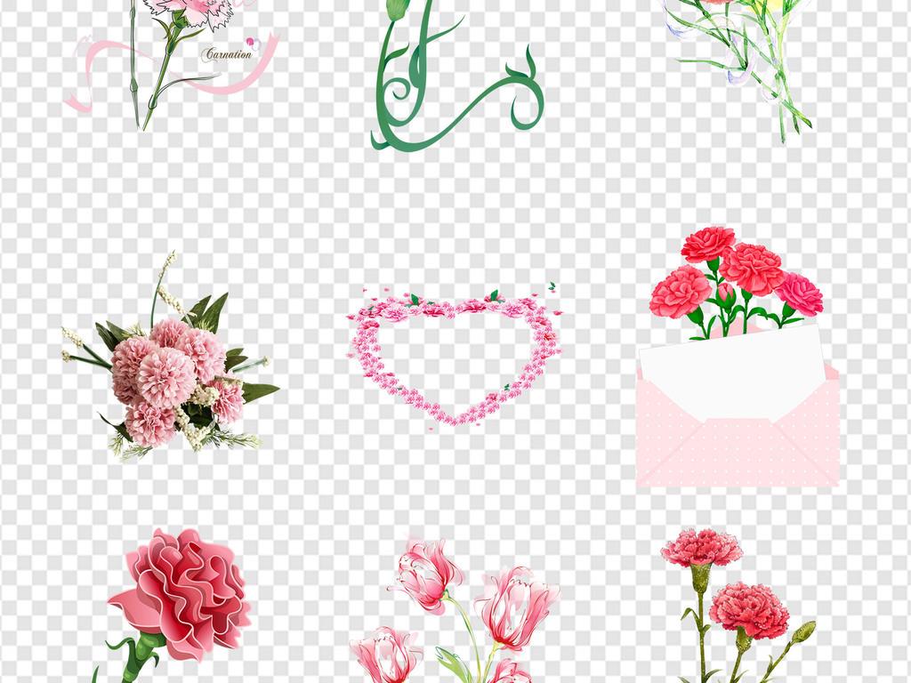 手绘母亲节母情节素材母亲节贺卡母亲节海报感恩母亲节设计素材鲜花店