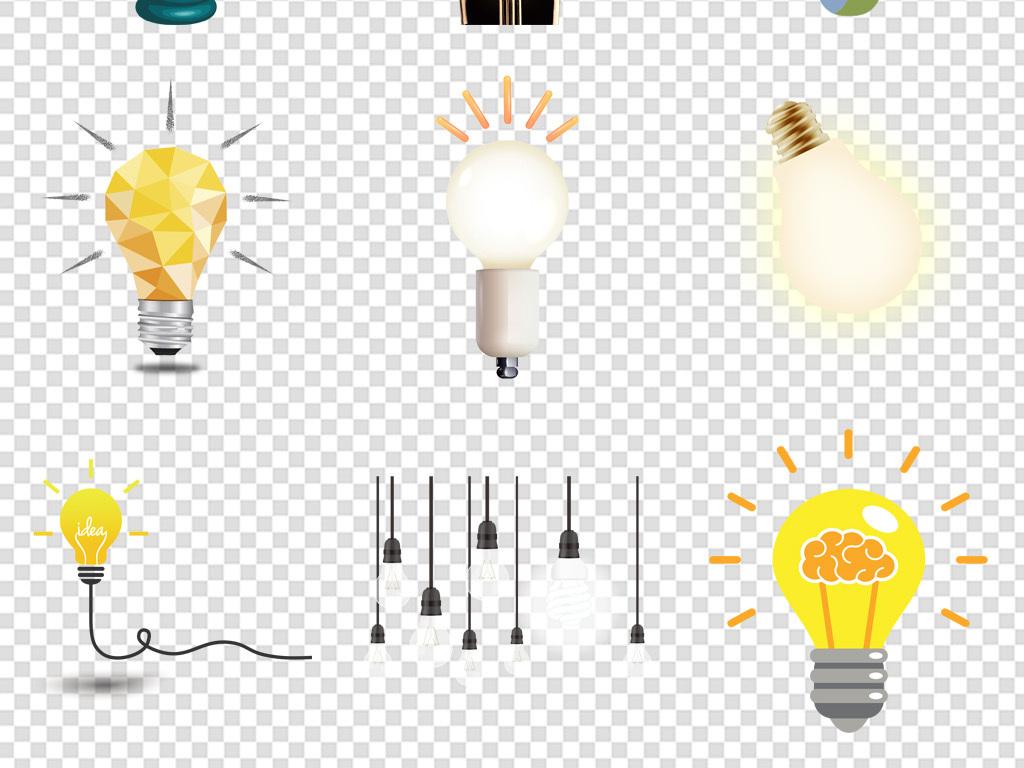 卡通发光灯泡海报背景免扣素材PNG图片 模板下载 13.83MB 其他大全 科技图片