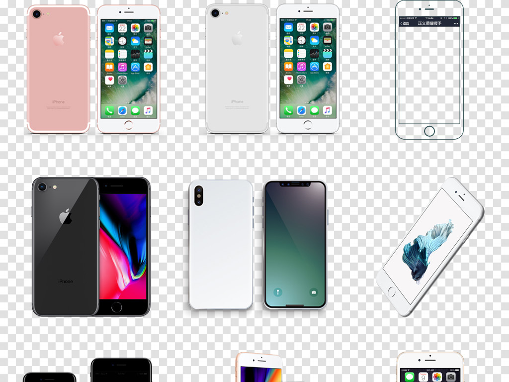 iphonexs手绘海报