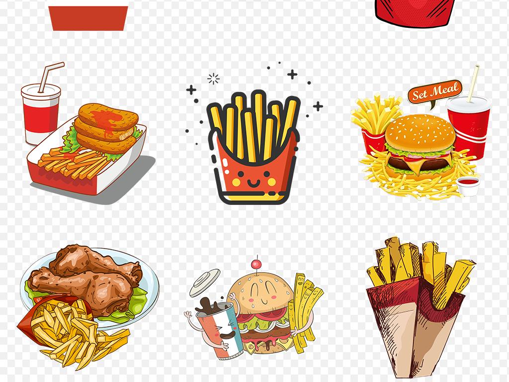 卡通手绘美味薯条土豆海报素材背景图片png图片