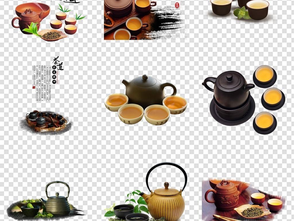 卡通茶叶下午茶手绘茶饮