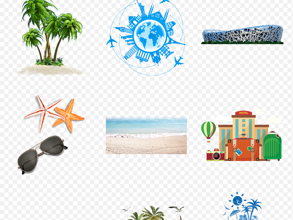 欧洲游环球自由行风景建筑风光城市素材背景图片世界手绘卡通卡通手绘
