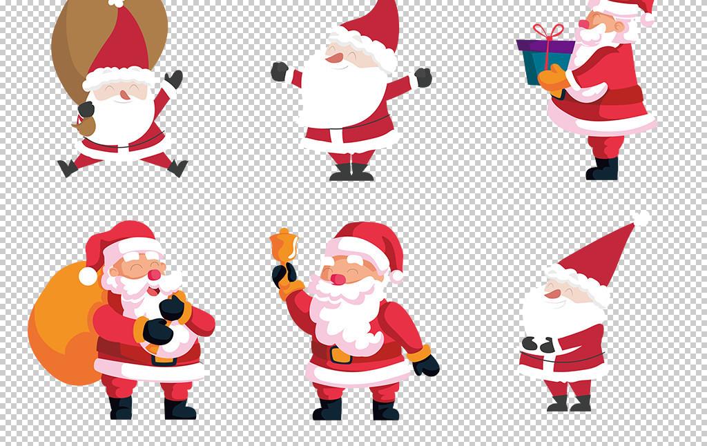 免抠元素 人物形象 动漫人物 > 手绘卡通圣诞节圣诞老人素材设计元素
