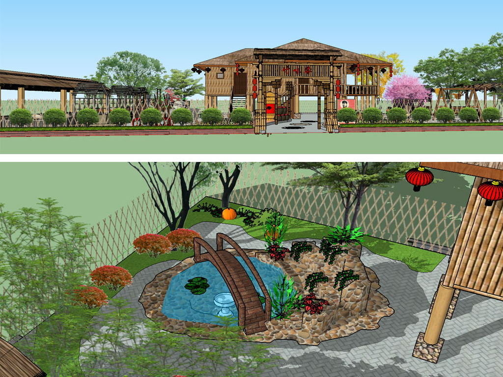 生态农庄su模型设计图下载(图片47.96mb)_城市规划库图片