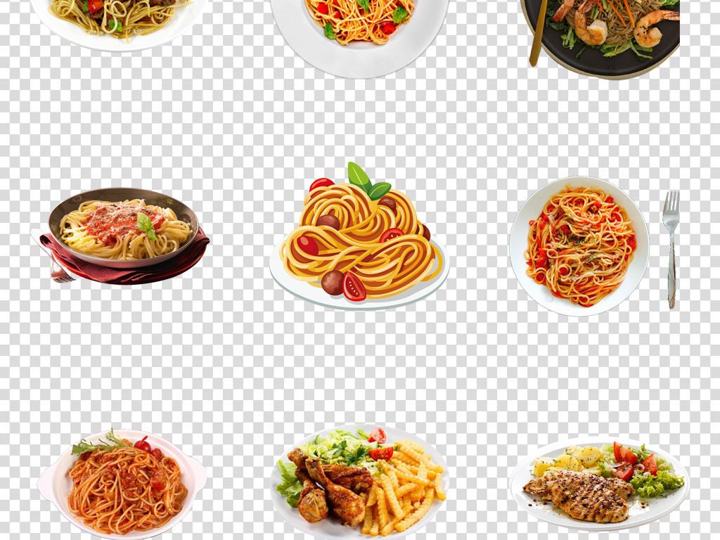 免抠元素 生活工作 食物饮品  > 美味西餐意大利面彩绘插画png素材