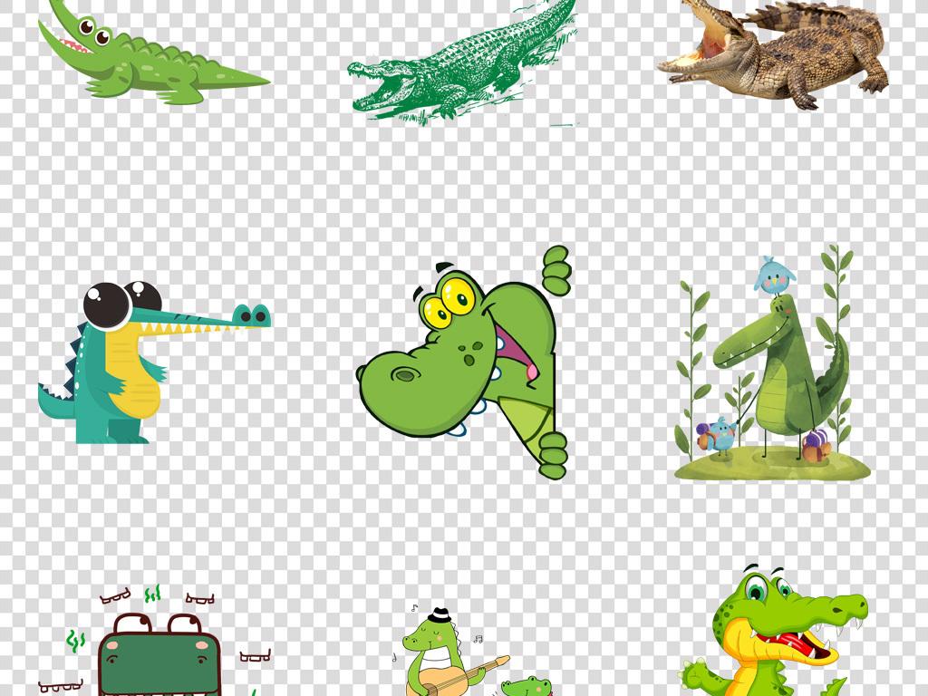 鳄鱼设计素材png图片3可爱卡通动物鳄鱼