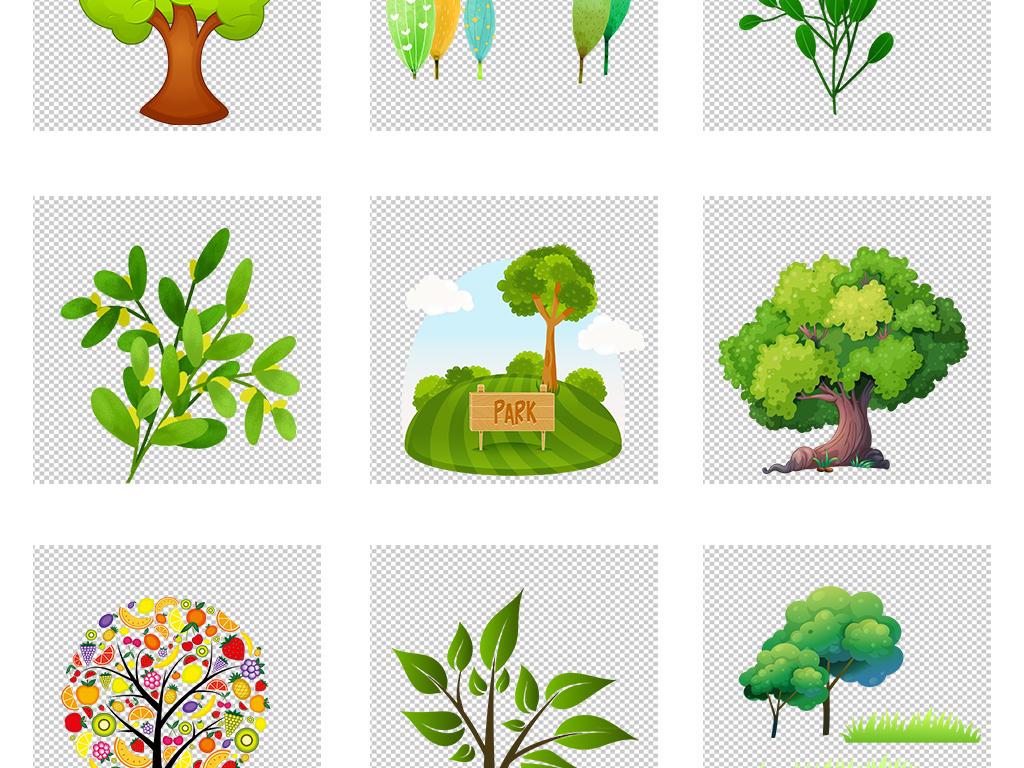 智慧树卡通树图片卡通树背景手绘树简约创意树儿童创意树知识
