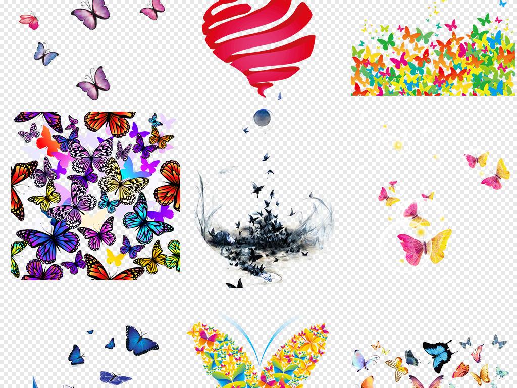 花纹蝴蝶图片设计元素唯美手绘造型蝴蝶素材元素卡通手绘手绘卡通卡通