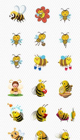 卡通可爱小蜜蜂蜂蜜采蜜海报素材背景图片