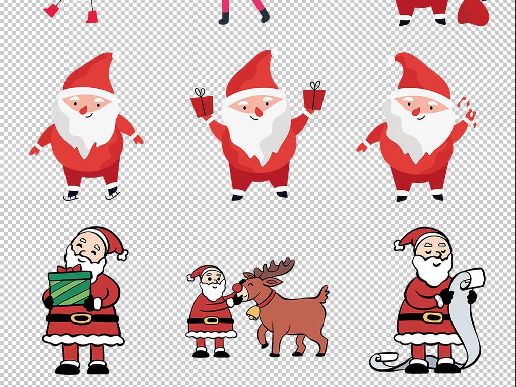 免抠元素 人物形象 动漫人物 > 手绘卡通可爱圣诞老人png免抠元素  素