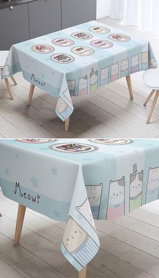 绘卡通猫咪条纹格子桌布台布茶几布-抽象条纹图片素材 抽象条纹图