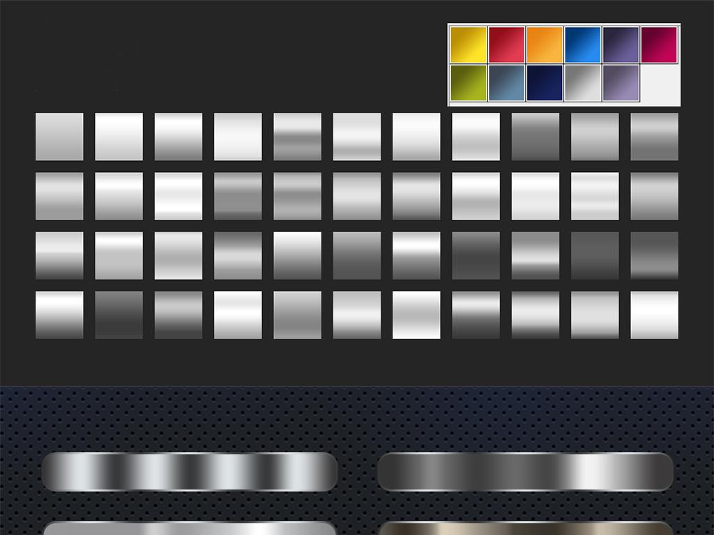 超美金属质感PS渐变金银色GRD渐变模板图片素材 psd下载 0.32MB 办公商务大全 生活工作