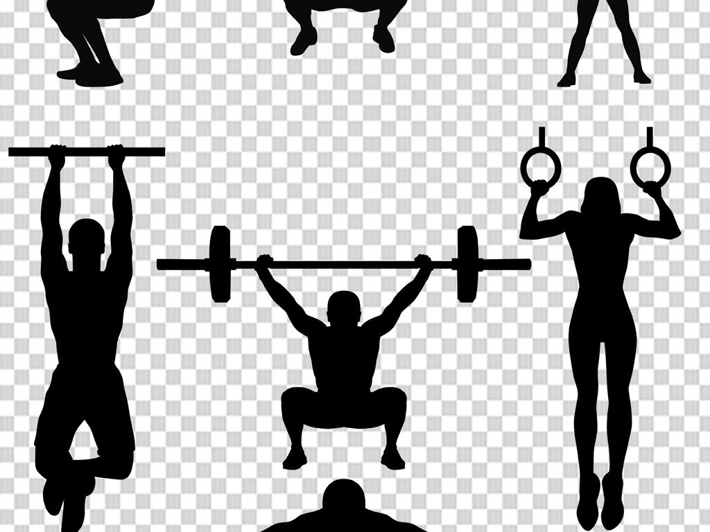 体育运动手绘招牌素材健身
