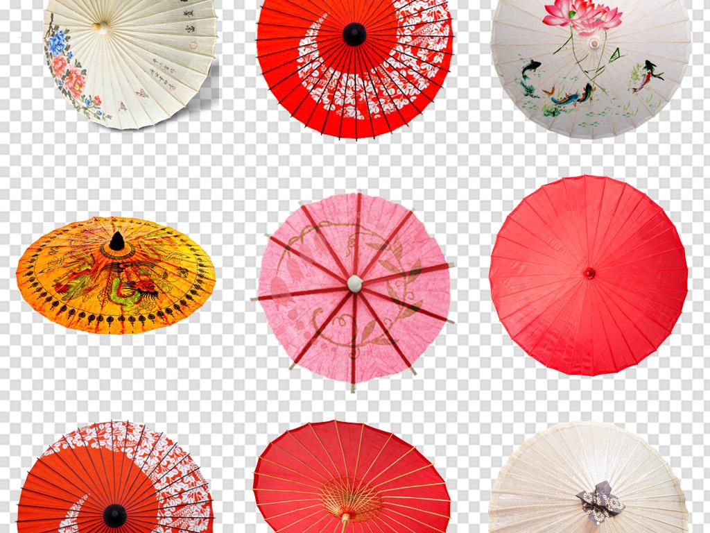 古风油纸伞雨伞花伞免扣png