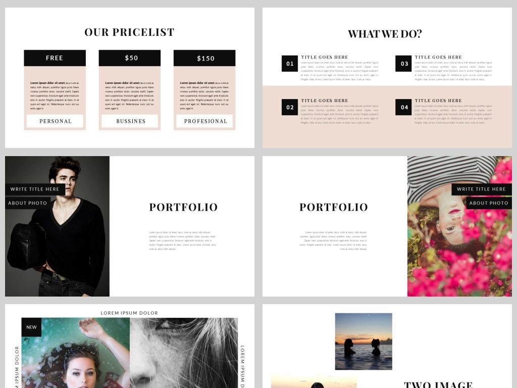 欧美风粉色时尚流行品牌宣传汇报ppt模板图片
