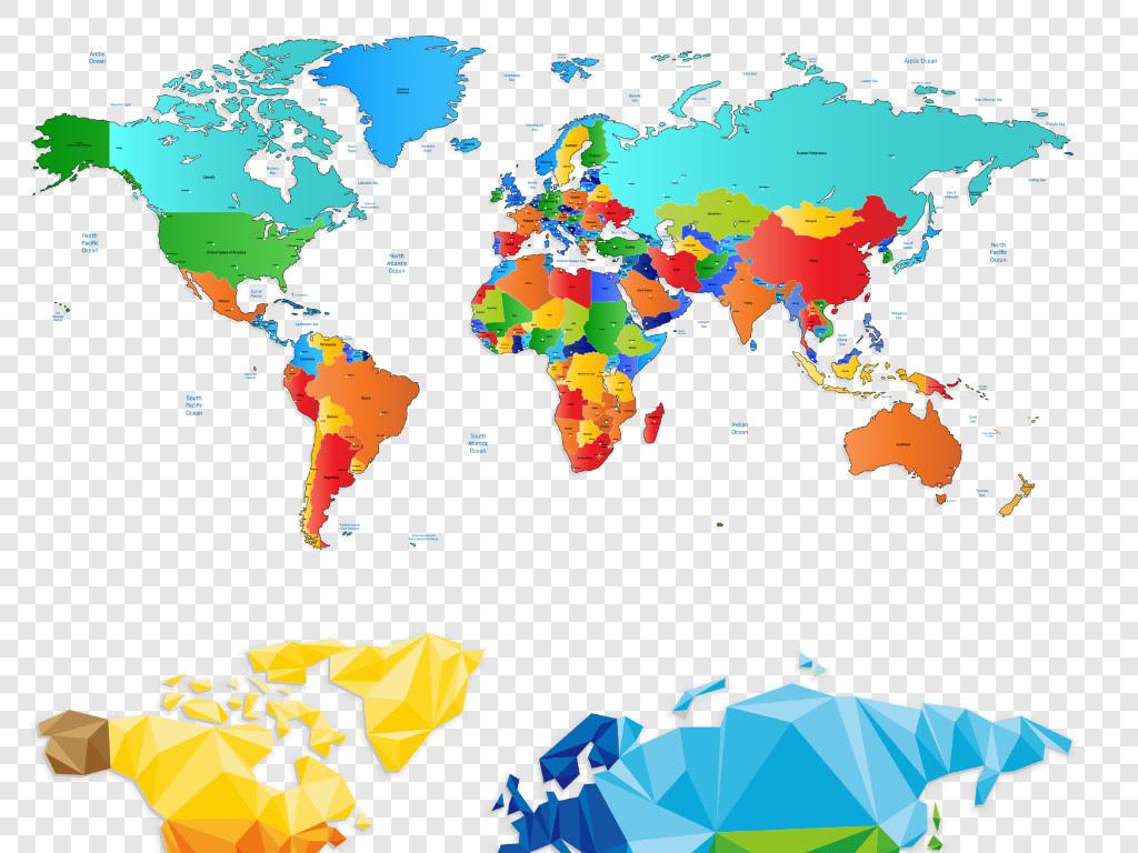 世界地图png免抠素材点状世界地图背景图