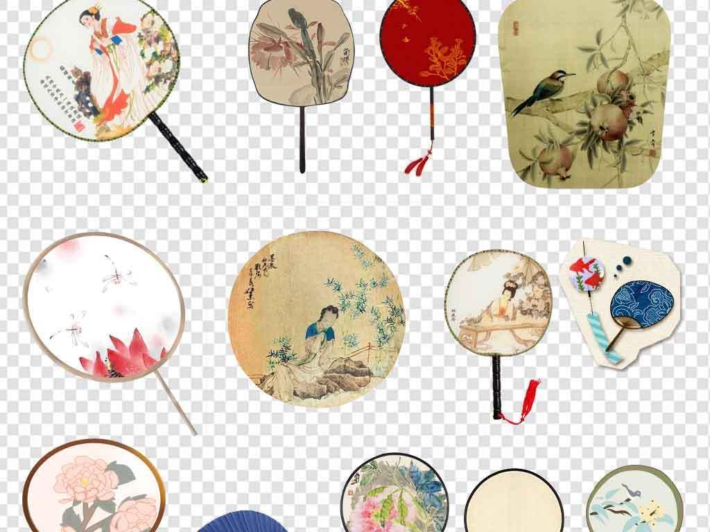 风手绘中国古典古风素材中国古代扇子中国古风古风古典中国风古典风扇
