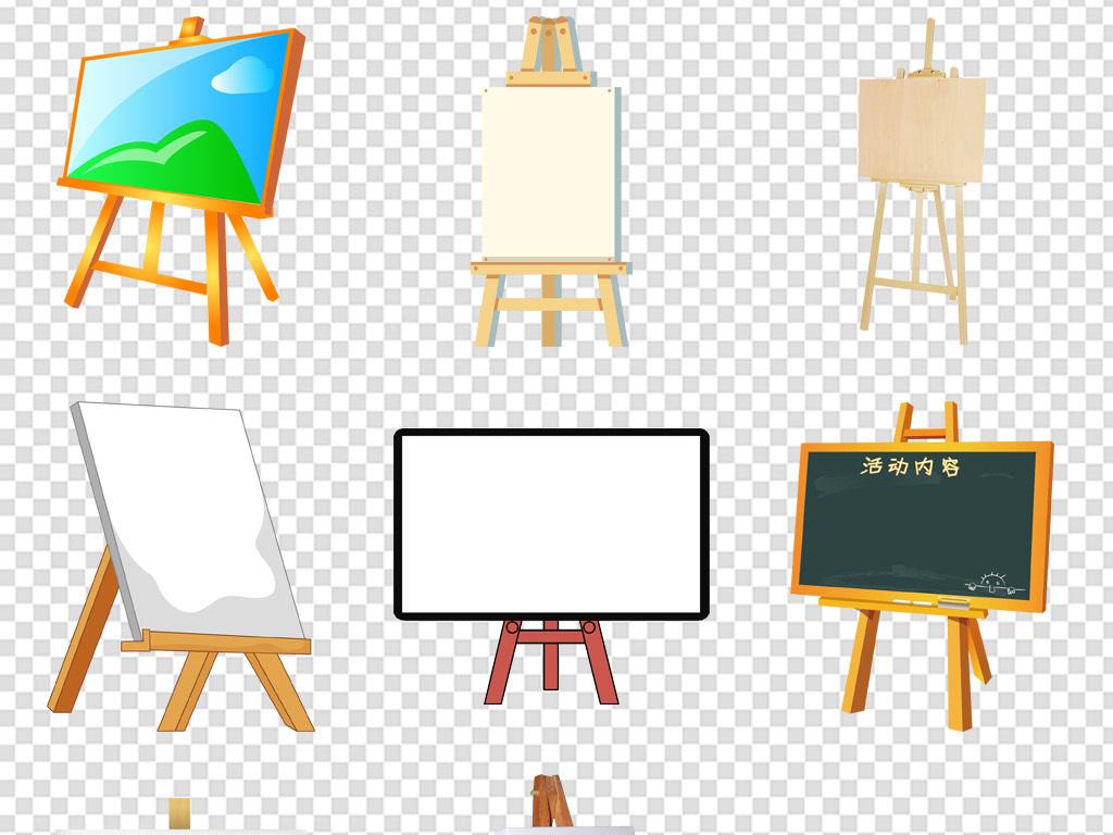 小孩儿童画画美术画板培训展板免扣PNG图片素材 模板下载 18.12MB 其他大全 生活工作