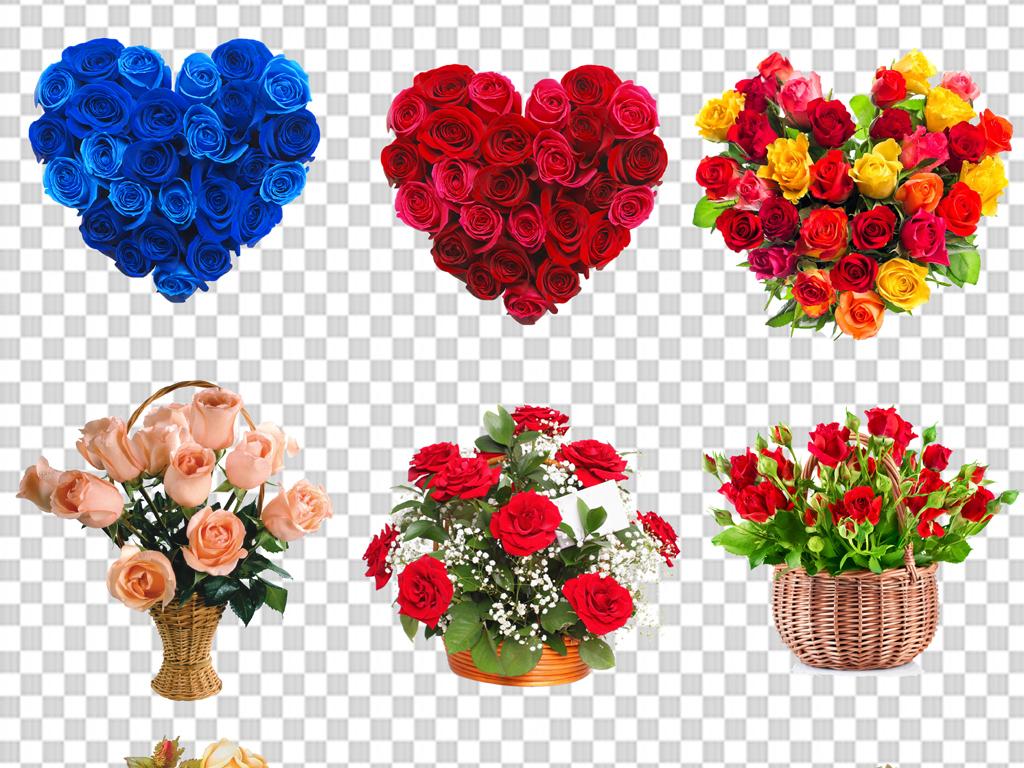 手绘玫瑰鲜花花束康乃馨百合手捧花png图片素材 模板下载 71.40MB 花卉大全 自然