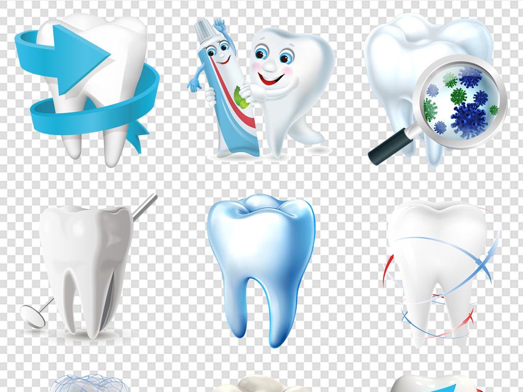 牙科医院保护牙齿诊所护理知识海报素材png