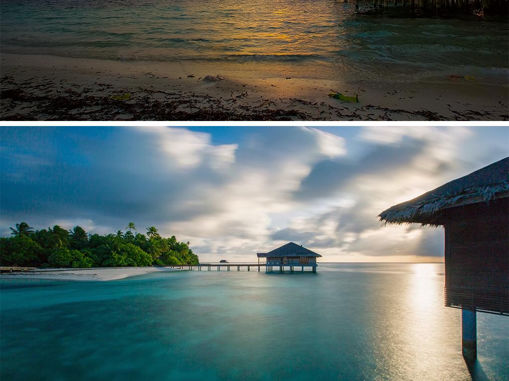 我图网提供独家原创国外旅游马尔代夫海景海岛沙滩风景