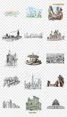 CDR素描房子图 CDR格式素描房子图素材图片 CDR素描房子图设计模板 我图网