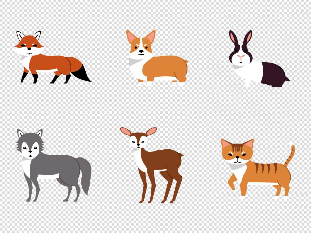 卡通手绘动物马戏团萌宠角色表演ai矢量素材