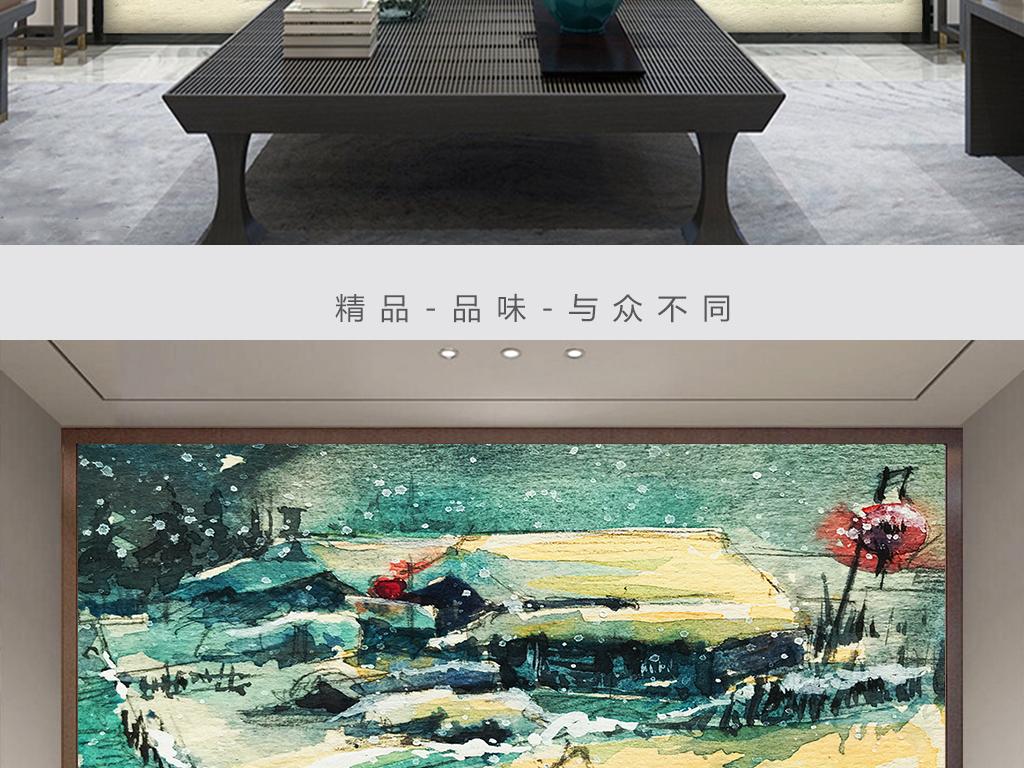 景墙装修效果图水墨山水画高清图片设计素材 模板下载 295.89MB 图片