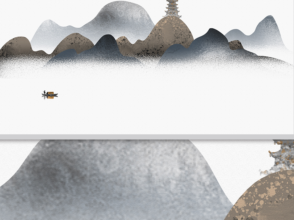 景墙装修效果图水墨山水画高清图片设计素材 模板下载 108.42MB 图片