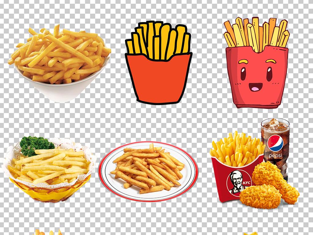 卡通美味薯条土豆海报素材背景图片png