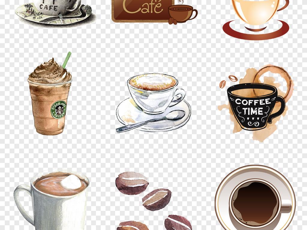 免抠元素 生活工作 食物饮品  > 卡通手绘咖啡下午茶咖啡图标咖啡海报