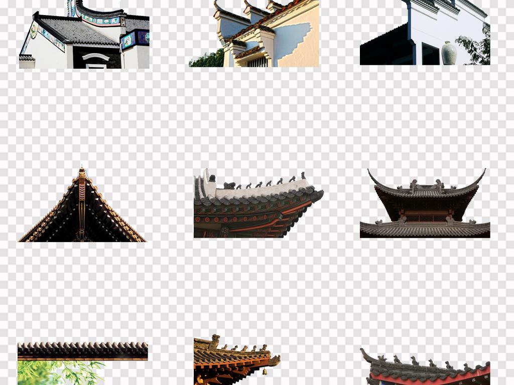 手绘建筑中国建筑故宫古建水墨建筑新年春节素材古建筑中国古风素材