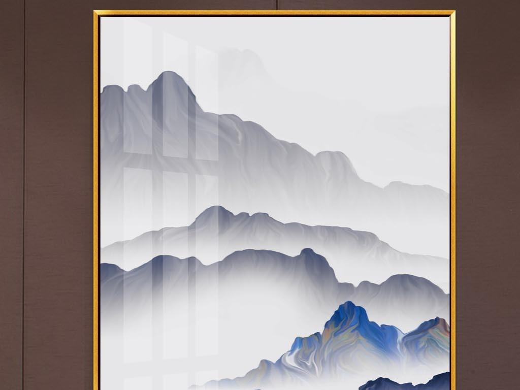 原创晶瓷画意境山脉飞鸟客厅三联画山水画图片设计素材 高清模板下载 19.76MB 抽象装饰画大全图片