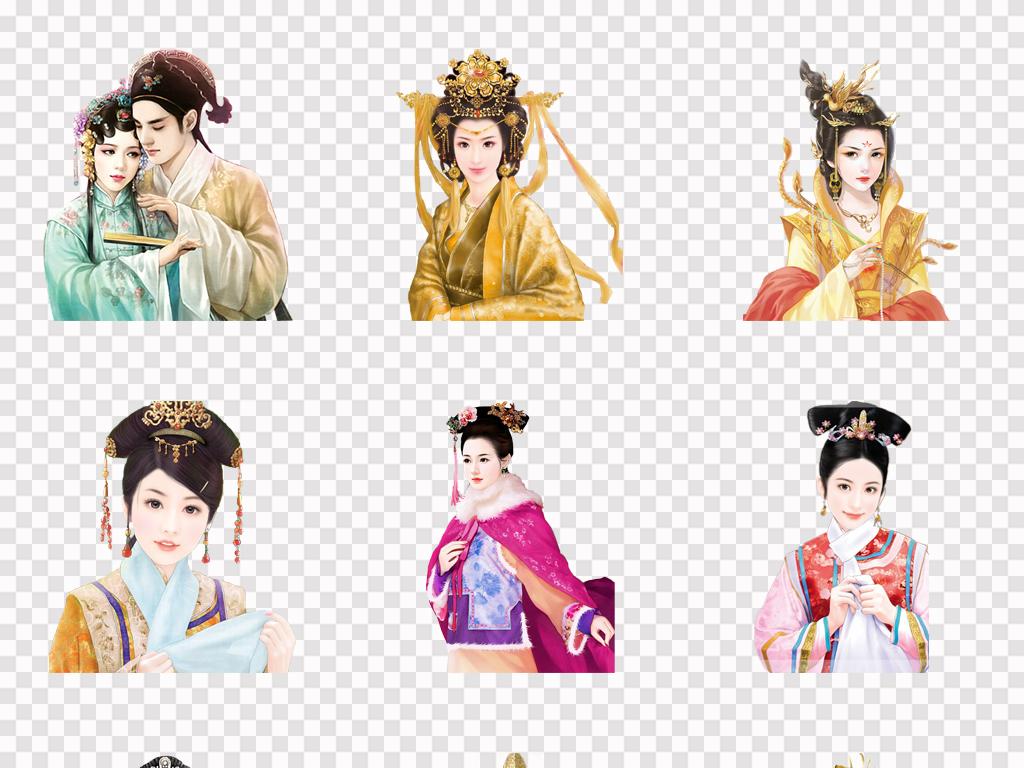 美人古装美女古风美女宫廷人物古风人物人物美女古代人物素材中国手绘