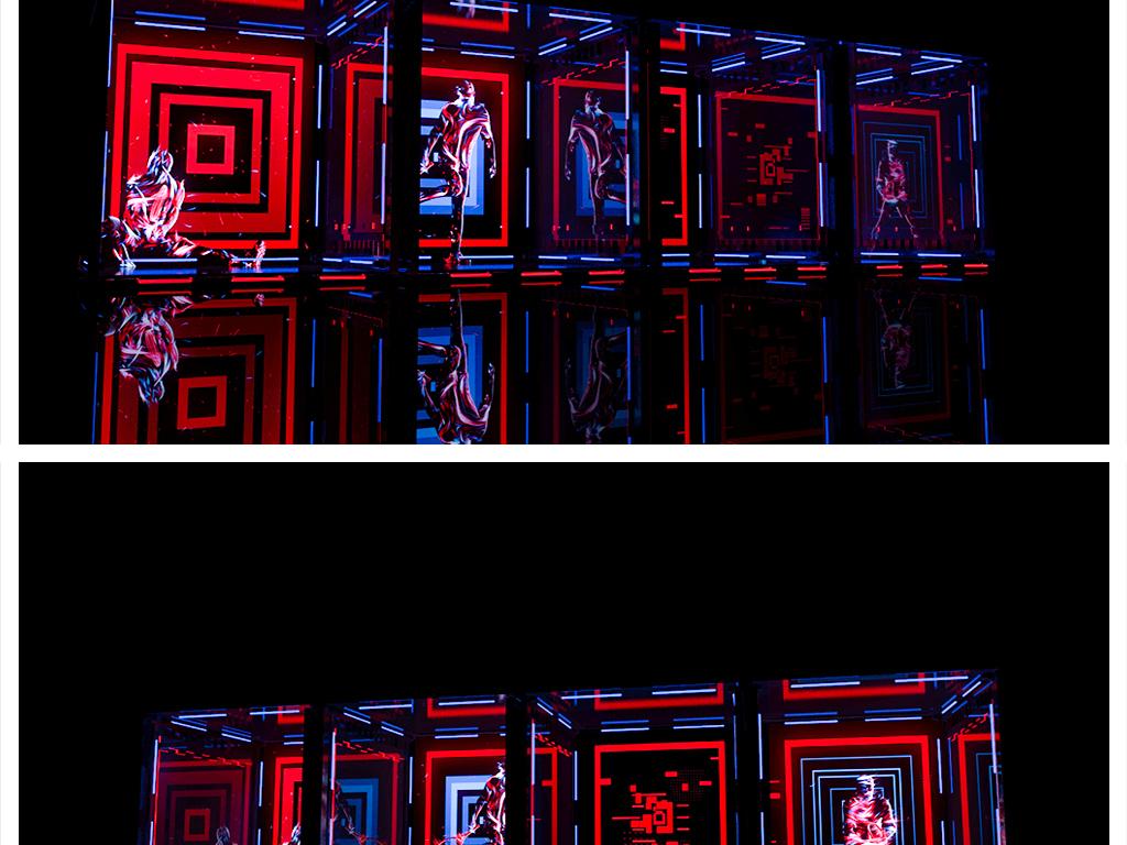 舞美活动体感游戏互动集装箱造型3d设计图片