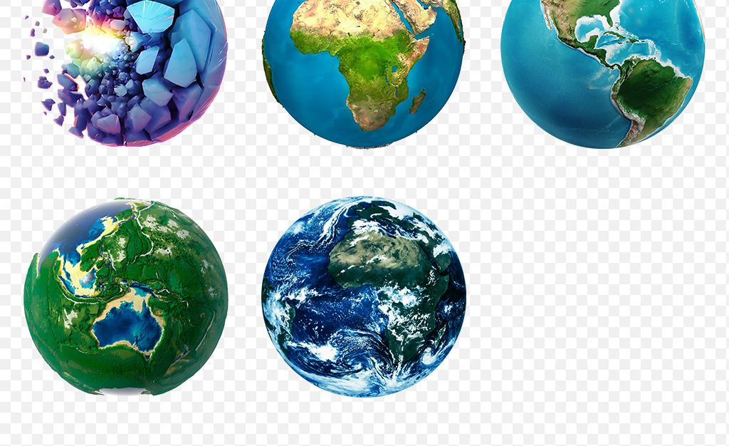 卡通手绘星球地球宇宙科技立体海报素材背景图片png