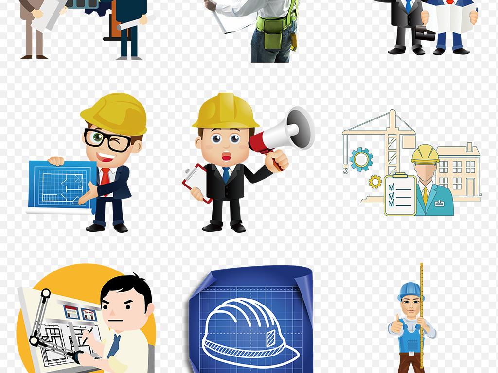 安全帽剪影人物卡通人物素材背景图片手绘人物手绘素材卡通手绘手绘